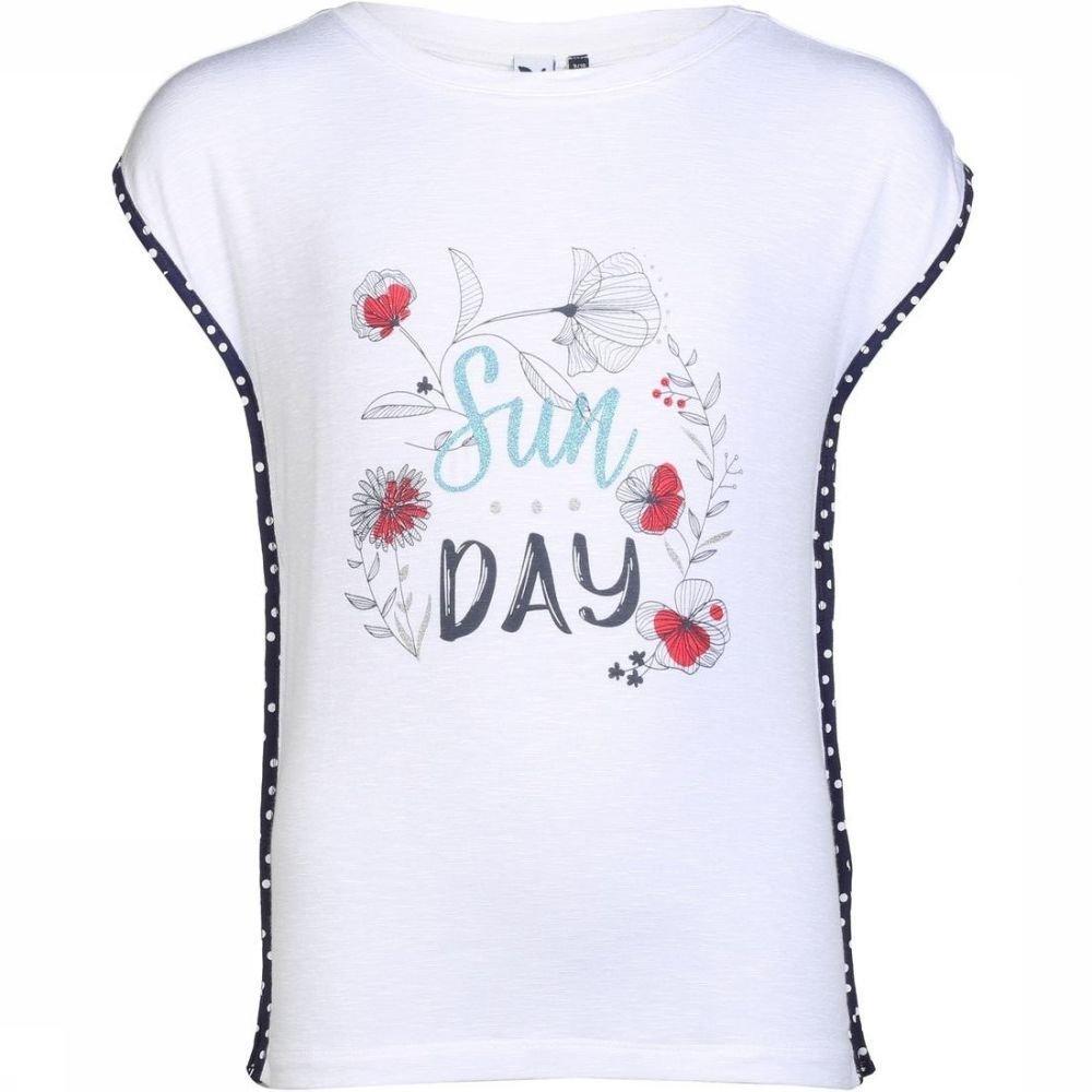 Afbeelding van 3 Pommes T-shirt Happy Sunday voor meisjes - Wit - 116