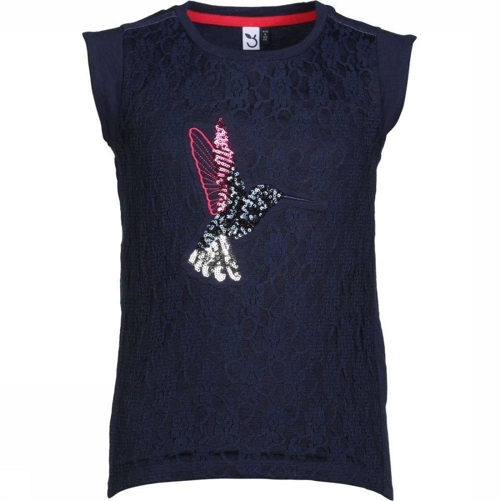 Afbeelding van 3 Pommes T-shirt Happy Coral voor meisjes - Blauw - 152