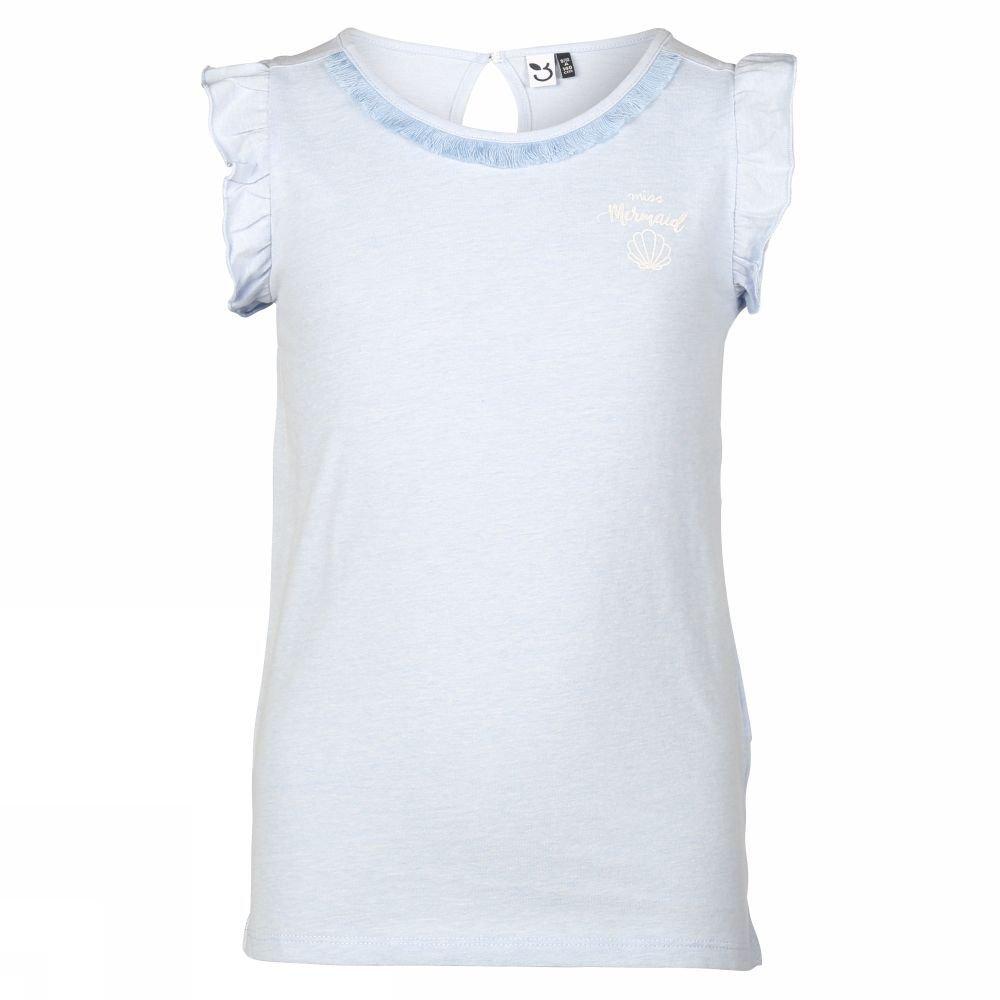 Afbeelding van 3 Pommes T-shirt Mermaid Party voor meisjes - Blauw