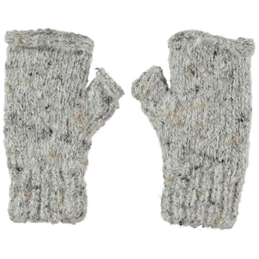 Ayacucho Handschoen Cuzco Wrist Warmer voor dames - Grijs Mengeling