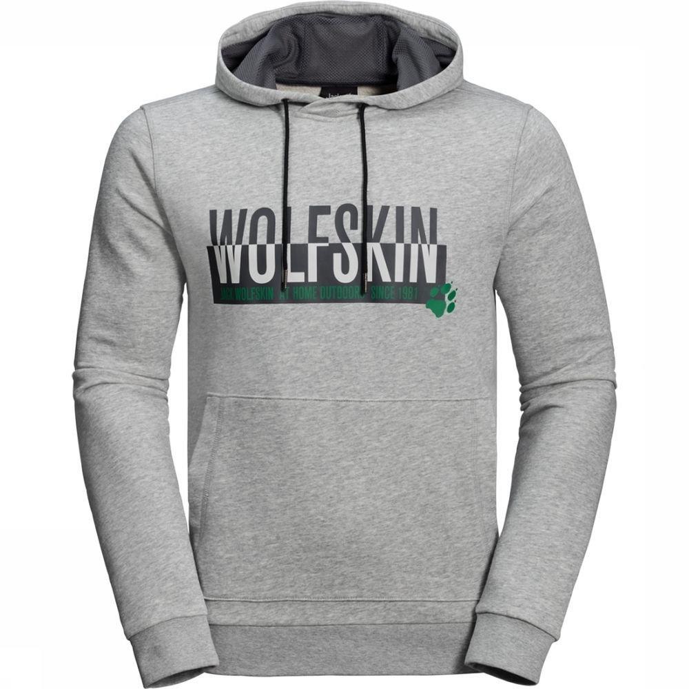 Jack Wolfskin Trui Slogan voor heren - Grijs - Maat: XXXL