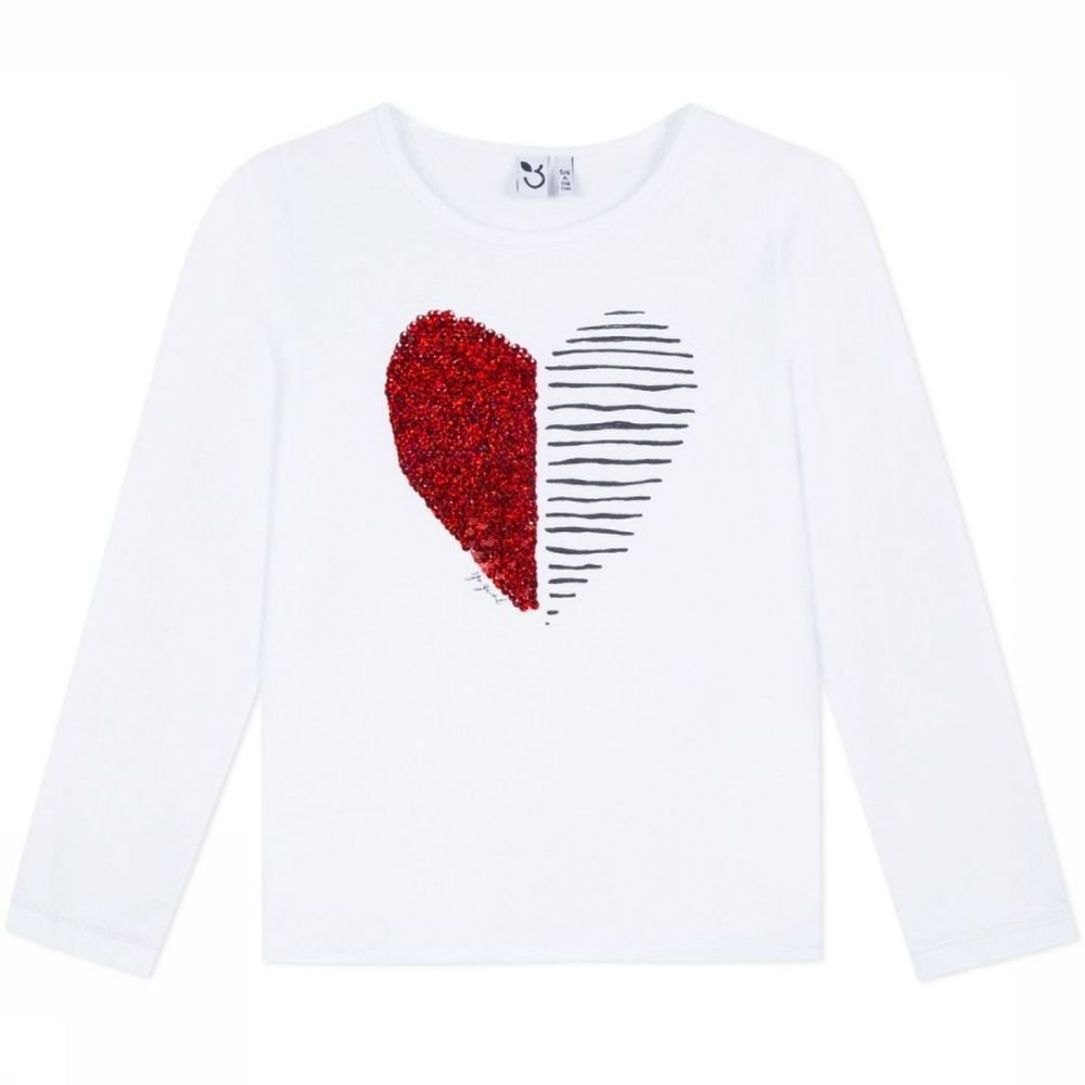 Afbeelding van 3 Pommes T-shirt Ml voor meisjes - Wit