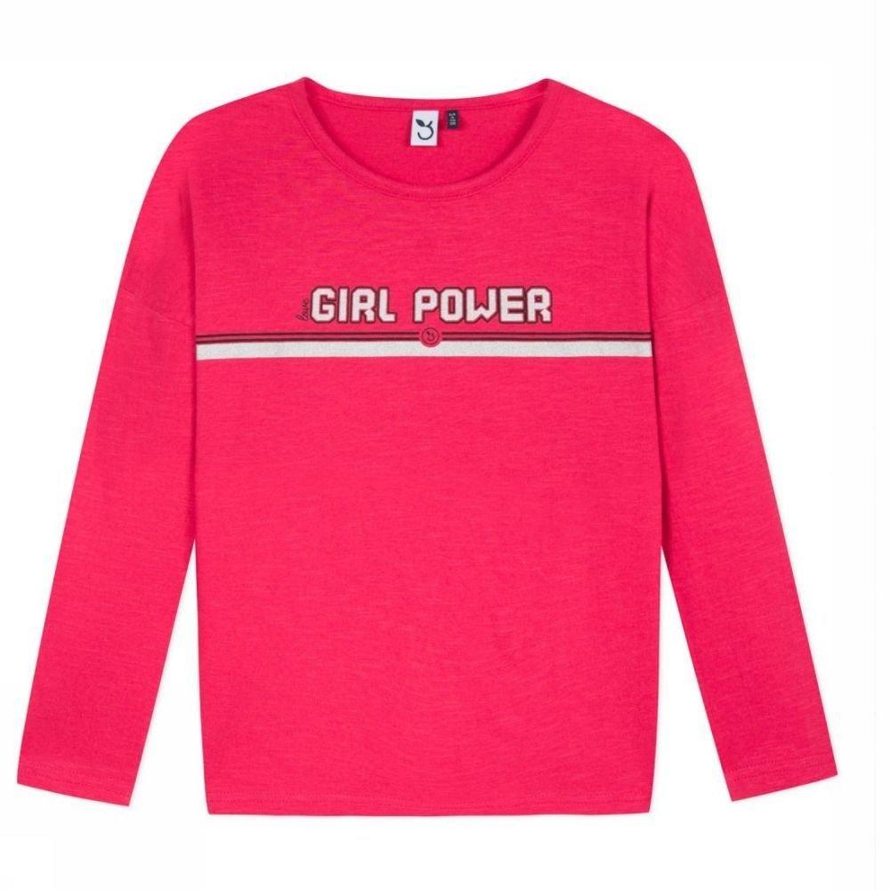 Afbeelding van 3 Pommes T-shirt Ml voor meisjes - Rood