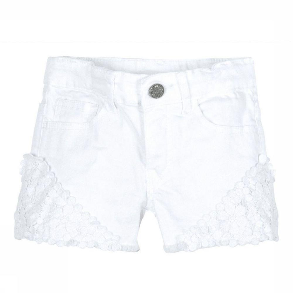 Afbeelding van 3 Pommes Short Lace voor meisjes - Wit