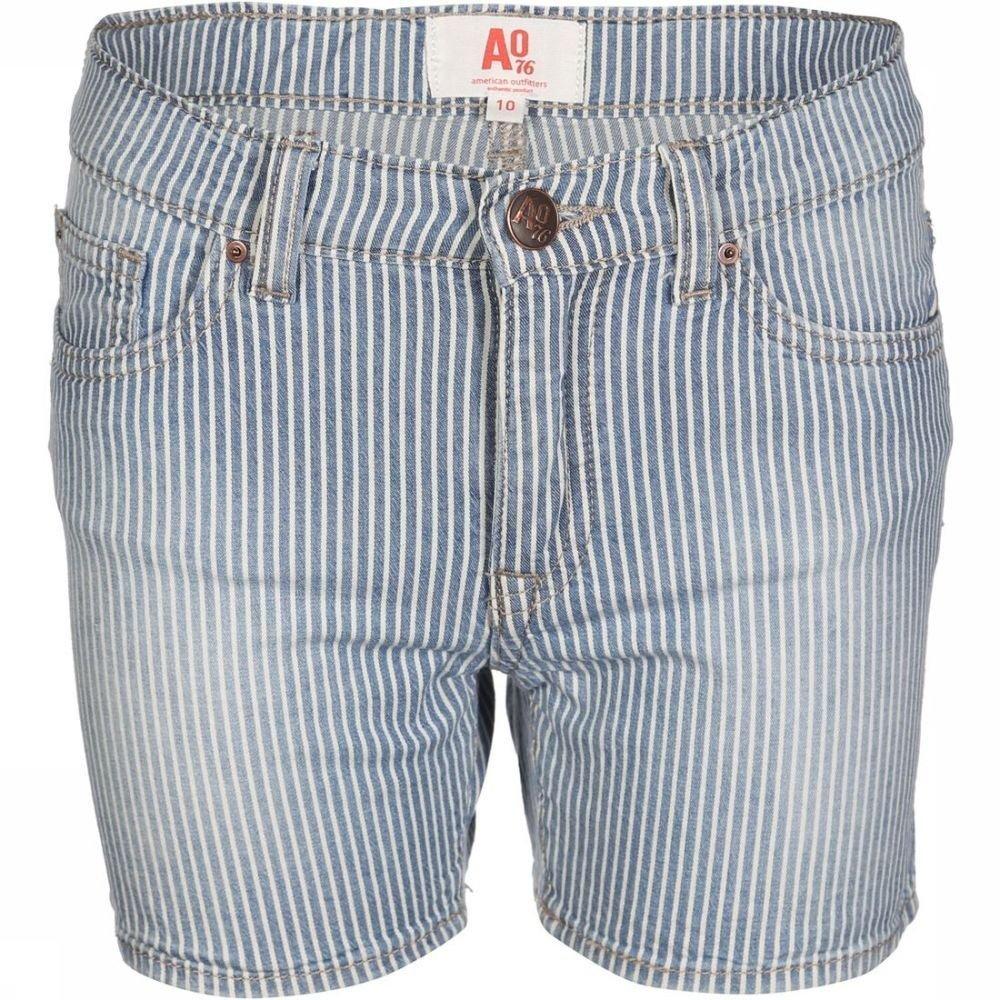 Afbeelding van AO76 Short Kelly Stripe voor meisjes - Blauw - 128