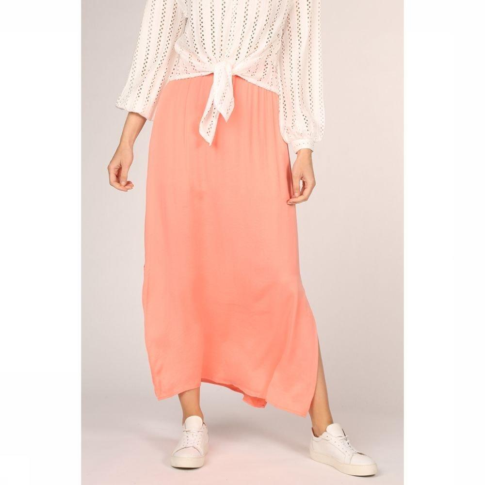 Vila Rok cava Maxi Skirt - Fav voor dames - Roze - Maten: XS, XL