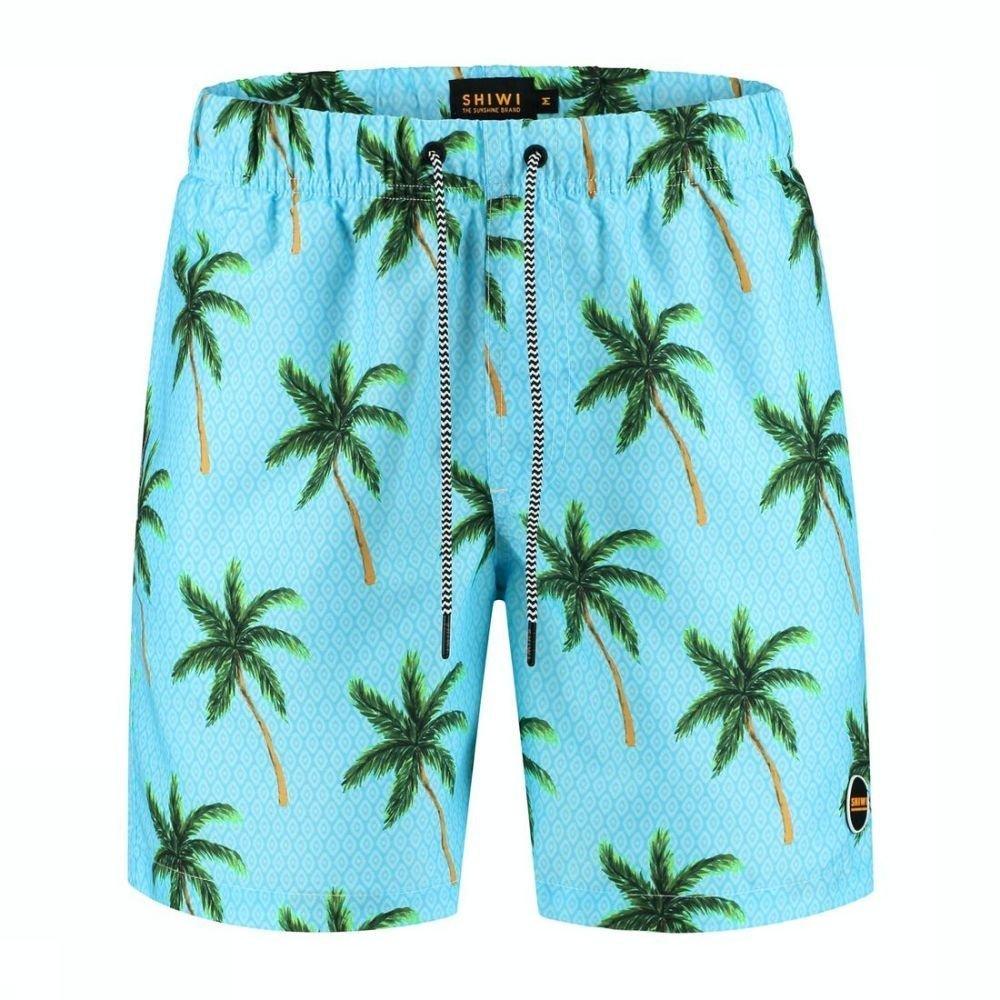Shiwi Zwemshort Painted Palms voor heren - Blauw/Ass. Bloem - Maten: M, L, XL