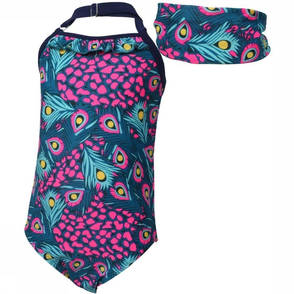 Color Kids Badpak Tordis voor meisjes Blauw-Roze Maat: 104