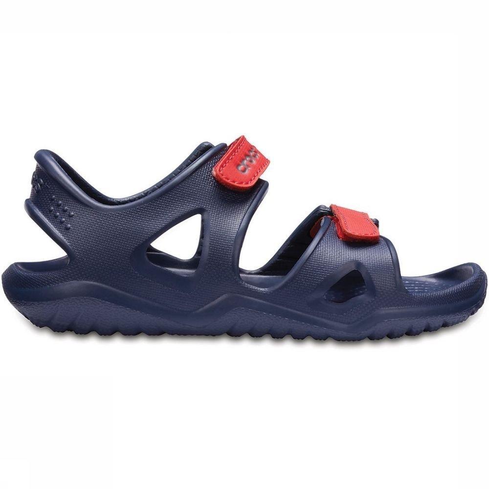 Crocs Sandaal Swiftwater River voor jongens Blauw-Rood Maten: 23-24, 24-25, 25-26, 27-28
