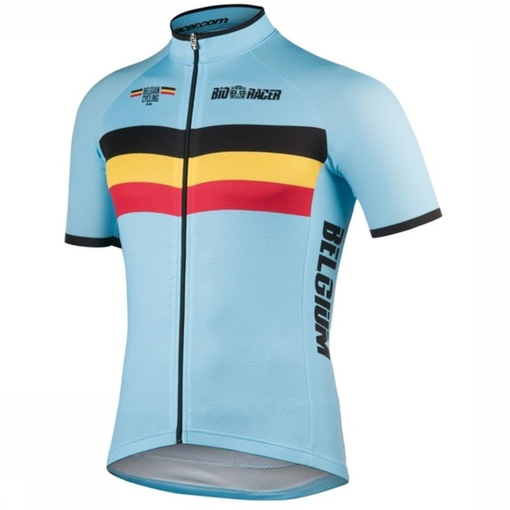 Afbeelding van Bio-Racer T-shirt Belgium voor heren - Blauw