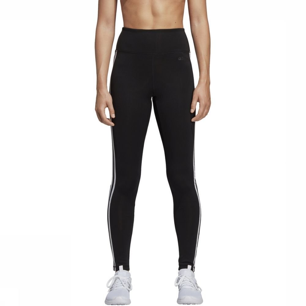 adidas Legging Design 2 Move 3-Stripes High-Rise Long voor dames - Zwart - Maat: L - Sale