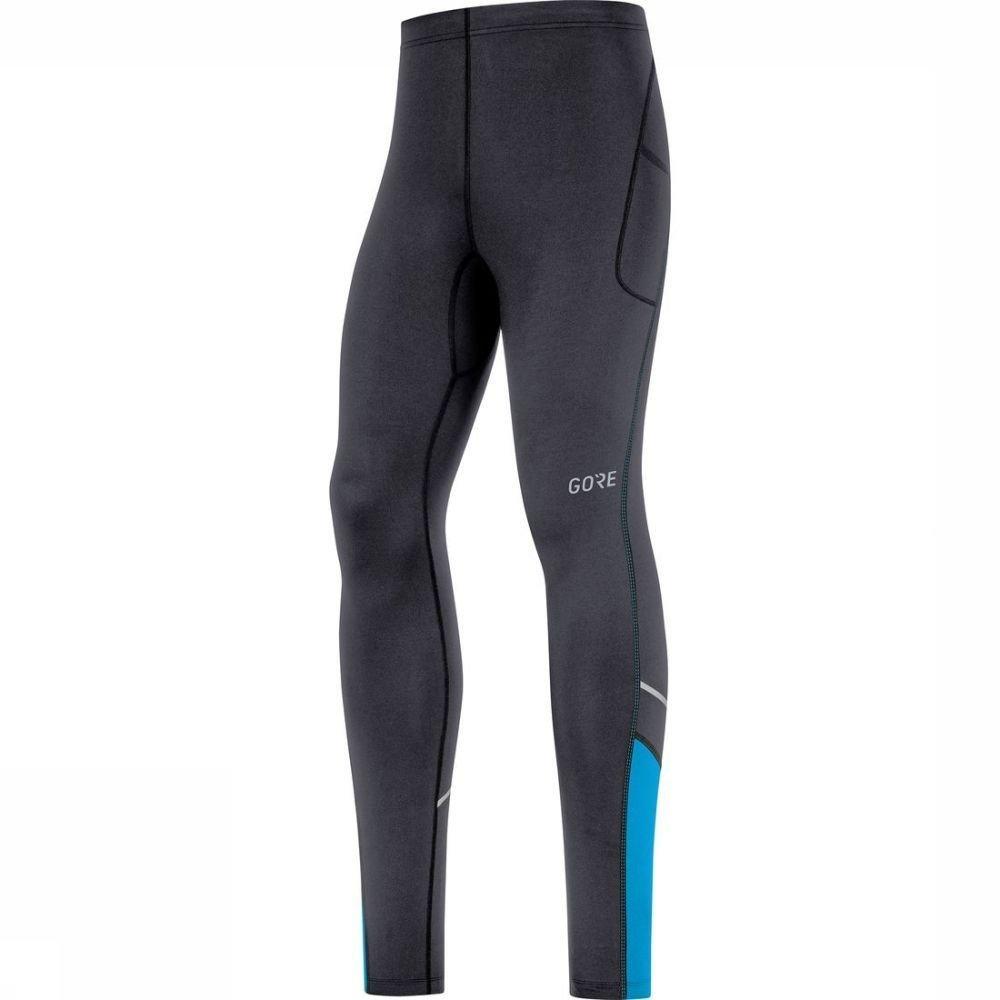 GORE WEAR Legging R3 Mid voor heren - Zwart/Blauw - Maten: S, M, L, XL