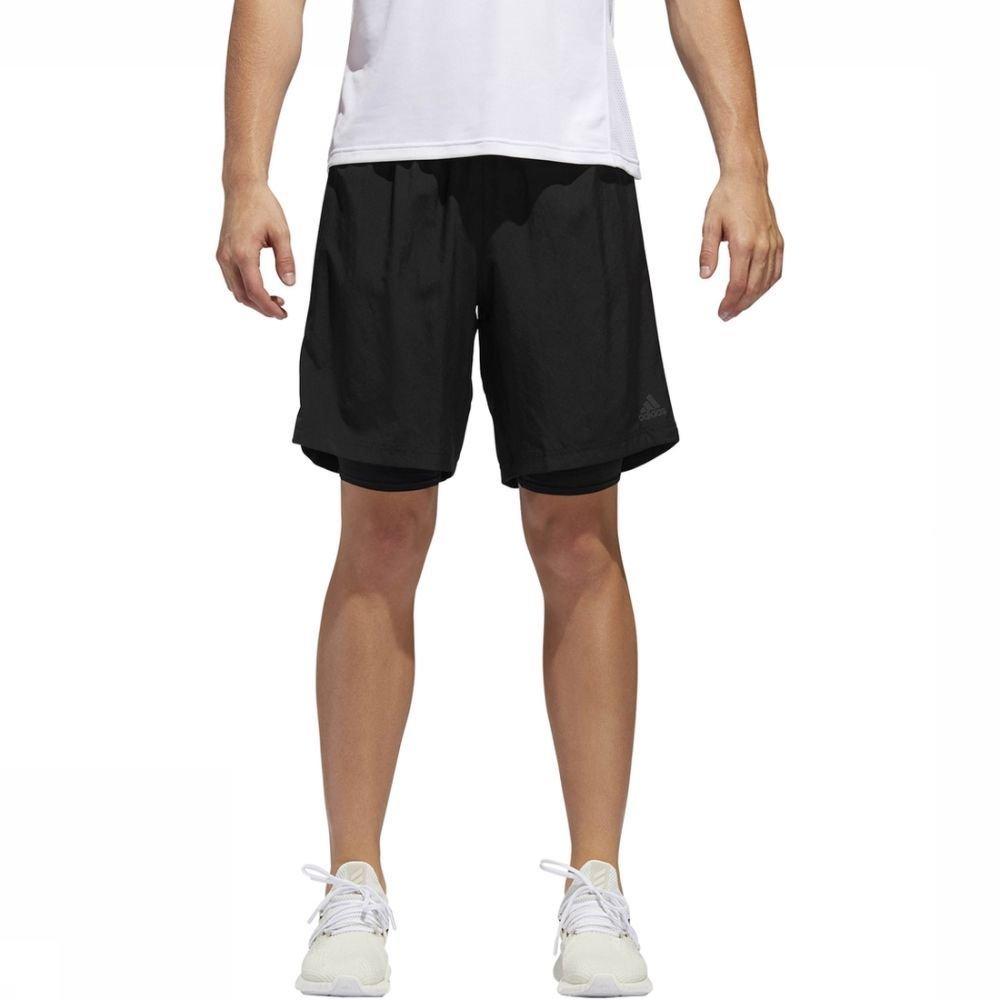 adidas Short Own The Run 2N1 voor heren - Zwart - Maten: M, XL